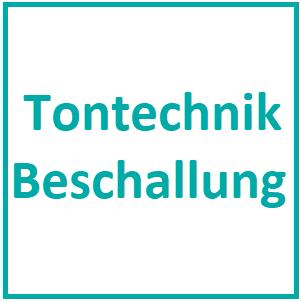 W08 - Tontechnik / Beschallung